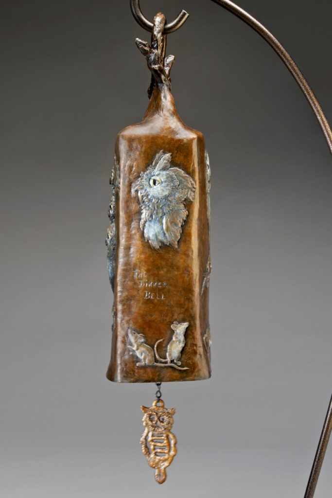 The Dinner Bell - Diane Mason - Owls and Prey on Bell